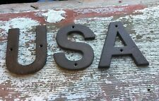 New listing Cast Iron America Sign Usa Trump 2020 American Flag Barn Farm Country Proud Home