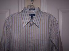 Paul Fredrick Men's 16-33 Button Front Dress Shirt Stripe Long Sleeve NWOT