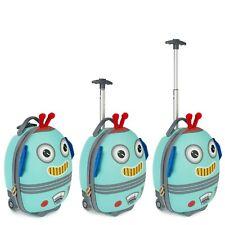 boppi Kids Cabin Bag Childrens Roller Luggage Light Kids Travel Cases ROBOT NEW
