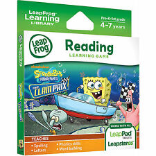 LeapFrog LeapPad 1 2 3 Ultra Game SpongeBob The Clam Prix (LeapPad Platinum)