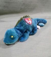 Ty Beanie Baby Iggy the Blue w/NO Tongue Iguana 1997