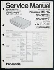 PANASONIC NV-SD22 NV-SD25 VW-PDC1E Original Service-Manual/Diagram/Parts o213