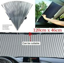 Aluminum foil Car Retractable Windshield Visor Sun Shade Block Cover 120cmx46cm
