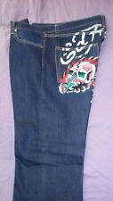 2007 Mens Ed Hardy Jeans 36x34 Pre-Owned Worn
