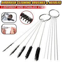 2 Set 5 Sizes Cleaning Brush Kit For Iwata Badger Master Airbrush Spray