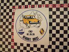 frances Renault DEALER Cristal Pegatina Renault 10 12 14 16 17 5 4l 8
