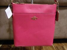 Coach Crossgrain Leather Courier Crossbody (Pink Ruby) - NWT (F52348)