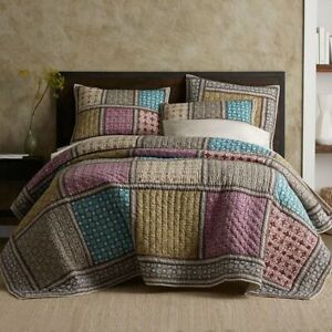 The Company Store Addison Patchwork Full/Queen Quilt ONLY! Cotton