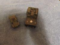 Lot of 2 Vintage U.S. Army Vehicle Models (Metal)
