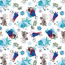 Disney Frozen Frozen Friends Tossed 100% Cotton Fabric by the Yard