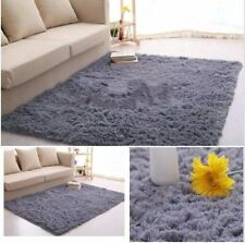 Shaggy 40*60cm Mat Fluffy Rugs Anti-Skid Area Rug Room Carpet Home Bedroom Floor