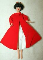 Reproduction Brunette Bubble Cut Barbie Doll W/ Red Flare #939 Silken Flame #977