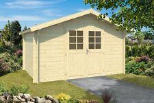 34mm Gartenhaus 400x400 cm Gerätehaus Holzhaus Holz Blockhaus Schuppen Hütte Neu