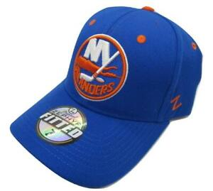 New York Islanders Mens Size 7 Fitted Blue Zephyr Hat