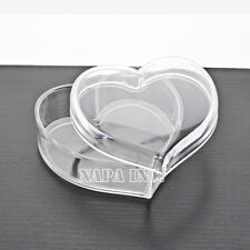 Heart Cosmetic Clear Acrylic Makeup Case Organizer Jewelry Accessories Storage