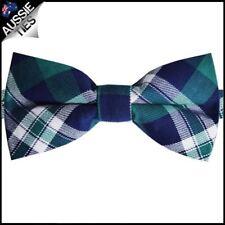 Mens Green, Blue & White Tartan Bow Tie Men's Bowtie