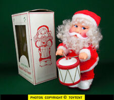 animated musical drumming Santa vintage toy plays Christmas tunes ... SEE MOVIE