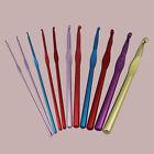 New Rainbow Aluminum Crochet Hooks Kniting Single needle variety 2.0mm-10.0mm