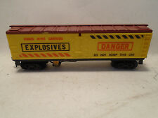 1961 VINTAGE GILBERT HO SCALE #33806 EXPLODING BOX CAR IN NEW CONDITION