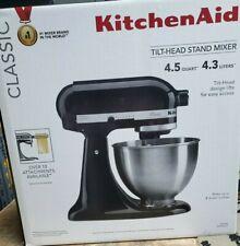 FACTORY SEALED KitchenAid 4.5QT Tilt-Head Stand Mixer K45SSOB Onyx Black