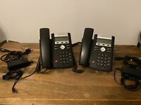Lot Of 2 Polycom SoundPoint IP 331 VoIP Business Phone w/ Base & Power Adapter