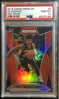2019 Ja Morant Panini Prizm Draft Picks RED PRIZM #2 Rookie RC PSA 10 Low Pop 📈
