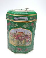 German Lambertz Tin Music Box Christmas, 2006 Green  Working