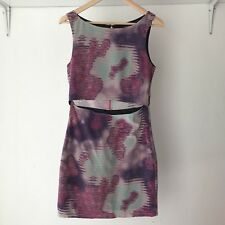 KSUBI Womens Backless Bodycon Cocktail Dress With Midriff Cut Out, Size Small