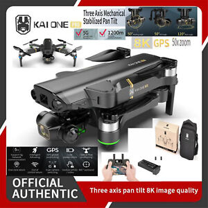 5G WiFi 1Km GPS Brushless 8K HD Camera FPV Quadcopter RC Drone w/3 Axis Gimbal