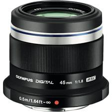 Olympus M.Zuiko 45mm f1.8 MFT Lens - Black