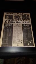 Talking Heads, Zz Top, George Benson Rare Original Radio Promo Poster Ad Framed!