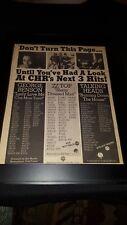 Talking Heads, Zz Top, George Benson Rare Original Radio Promo Poster Ad Framed!