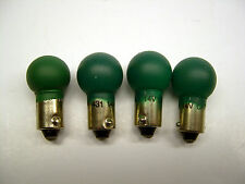 4 Large Green 18v Bayonette Base Bulbs for American Flyer Transformers