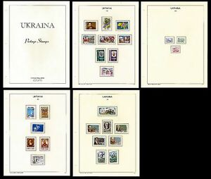 UKRAINE. Collection of stamps on special sheets. Issues of 1995. MNH (BI#9)