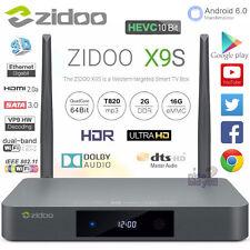 ZIDOO X9S 2G 16G Android 6.0 TV Box 4K Media Player Internet Streamer HDR VP9 BT