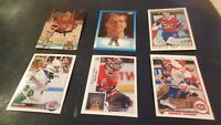 Lot of 6 Different 1990's Patrick Roy Hockey Cards - Montreal Canadiens - NR MT