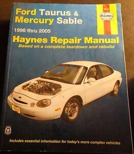 1996-2005 HAYNES FORD TAURUS & MERCURY SABLE REPAIR SERVICE MANUAL 36075 (204)