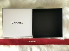 1 Chanel Signature Square Empty Gift Box & 1 Chanel Red Band+1 Chanel White Band