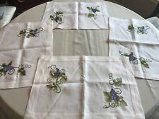 Linen Placemats--Grape--Set of 4 NWOT