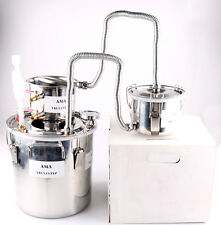 Home 8GAL 3 Pots Stainless Steel Moonshine Still Water Alcohol Oil Distiller