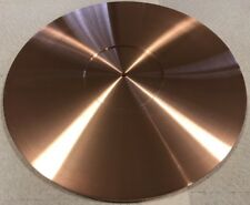 TURNTABLE PLATTER MAT *CUSTOM ORDERS WELCOME* 300mm x 6mm THK. SOLID COPPER USA!