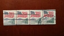 US 25c Flag Over Yosemite Used Coil Stamps 4