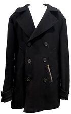 VALENTINO MEN'S BLACK SHORT DOUBLE-BREASTED COAT, 50, $1995