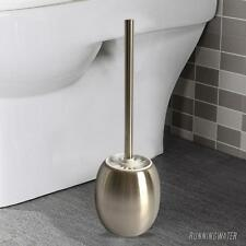 Stainless Steel Toilet Brush & Holder Brushed Home Bathroom Cleaning Set 000