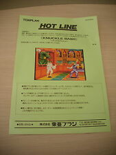 >> KNUCKLE BASH TOAPLAN ARCADE RARE ORIGINAL JAPAN HANDBILL FLYER CHIRASHI! <<