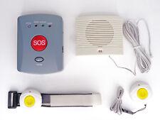 Senioren Notruf Hausnotruf GSM Alarm Komplettset 2 Funksender + Lautsprecher