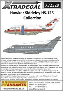 X72329 NEW Xtradecal 1:72 Hawker Siddeley HS.125 Collection Part 1