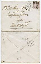 IRELAND to ISLE of WIGHT 1882 ENVELOPE CORK DUPLEX
