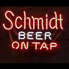 "17"" RARE SCHMIDT BEER ON TAP Handcraft BEER BAR PUB TAVERN DECOR NEON LIGHT SIGN"