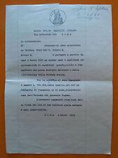 Roma 1951: Documento per acquisto vettura Fiat 500 C.